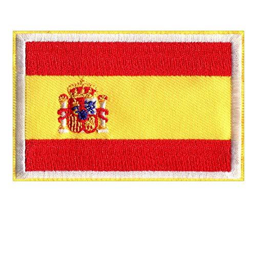 Parche Bordado Bandera España - 8.6 X 5.7 cm – Parche Ropa Termoadhesivo Militar Táctico Ejercito Coser o Planchar Chaquetas Vaqueros Aplique Costura Aplicaciones Termoadhesivas Manualidades