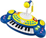 winfun Kinder Keyboard Piano Klavier Spielzeug mit 18 Tasten Soundeffekte (blau) -