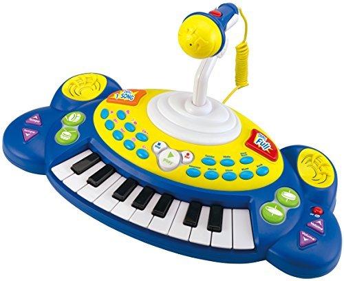 winfun Kinder Keyboard Piano Klavier Spielzeug mit 18 Tasten Soundeffekte (blau)