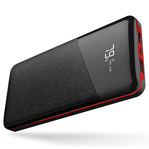 モバイルバッテリー 25000mAh 大容量 【PSE認証済】急速充電 2USB出力ポート LCD残量表示 iPhone/iPad/Andr...