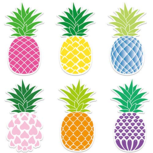 Pineapple Cutouts 36 Pcs Tropical Accents for Summer Hawaii Party Classroom Decoration