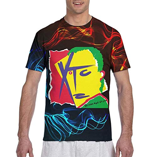 XTC-Drums & Wires-Music Band Mens Short Sleeve S-3XL Tee Tops 3D Print Fitness Classic Tshirts 3XL