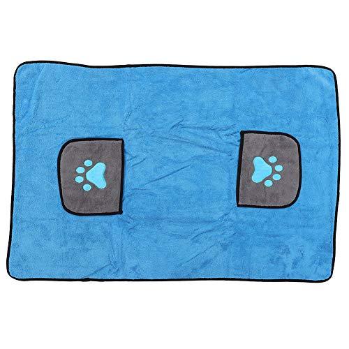 TEANQIkejitop Albornoz para mascotas, ducha grande, toalla de baño para perros, toalla para perros de secado rápido, albornoz de microfibra de absorción fuerte