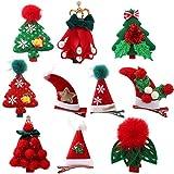 Frcolor 10 Stücke Weihnachten Haarspange Baby Haarklammern Haarclips Haarschmuck Mädchen Kinder Kleinkinder