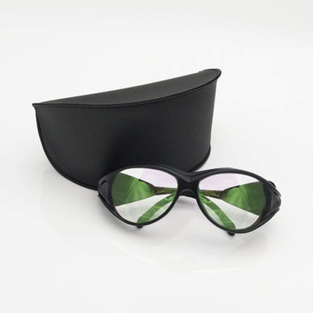 SMAA Gafas de Seguridad Profesionales de Longitud de Onda de 1064 NM, transmisión de luz del 85%, para médicos, Enfermeras, técnicos Profesionales y protección Ocular de Belleza y cosmetología, Negro