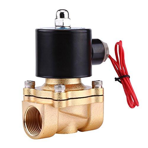"3/4""BSPP NC Electroválvula Válvula Eléctrica Magnética de Aleación de Zinc para Aceite Agua Aire Gas AC 220V"