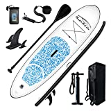 FEATH-R-LITE Inflatable 10'×30'×6' Ultra-Light (16.7lbs) SUP for All Skill Levels Everything Included with Stand Up Paddle Board, Adj Paddle, Pump, ISUP Travel Backpack, Leash, Waterproof Bag