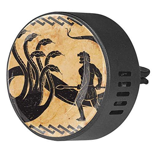 Nananma 2 unids difusor de coche aromaterapia aceite esencial negro Locket con clip de ventilación Hercules segundo trabajo