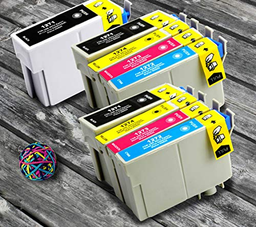 InkjetsClub Remanufactured Ink Cartridge Replacement for 9 Pack - Epson 127 High Yield Printer Ink Value Pack. Includes 3 Black, 2 Cyan, 2 Magenta and 2 Yellow Printer Ink