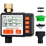 Water Timer Electronic Sprinkler Timer Multi Smart Single-Outlet Water Hose Timer Outdoor Waterproof Automatic On Off Programmable Controller Rain Delay and Manual Control Irrigation System