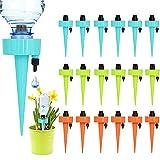 Riego por Goteo Picos, Sistema de Riego Automático Kit, con Válvula de Control para Jardín Bonsáis y Flores, Dispositivo de Irrigación Automático en Vacaciones