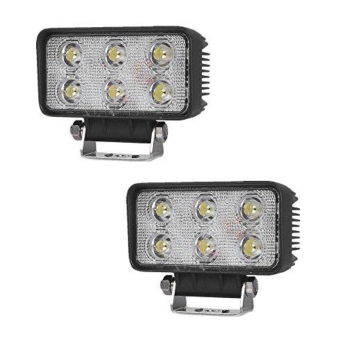 SAILUN 2/4 lampade da lavoro a LED da 18 W Light Bar Offroad, faro auto supplementare, illuminazione faro da lavoro impermeabile IP67 per Jeep Auto 4 WD SUV ATV