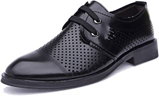 2019 Mens New Lace-up Flats Men's Casual Hollow Comfortable Breathable Fashion Oxford Summer Style Formal Shoes