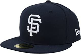 New Era 59Fifty Hat MLB San Francisco Giants Navy Blue Fitted Baseball Basic Cap