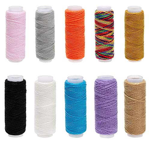 Best Buy! 10PCS Spools Sewing Threads Overlocking Polyester Embroidery Sewing Threads Maching Thread...