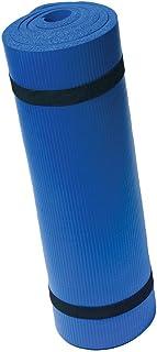 Harbinger Ribbed Durafoam Exercise Mat 5/8-Inch, Blue