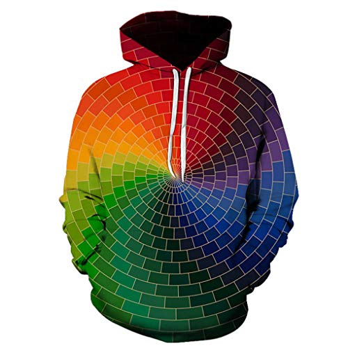 Automne Hommes Hoodies 3D Vortex Impression 3D Sweatshirts Travers¨¦e du Tunnel Imprimer Pull Sport Casual 008 Child Height 120cm