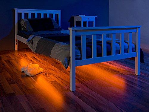 Lunartec LED-Bettlicht für Doppelbett, 2 Bewegungssensoren, 2x 1,5 m, kürzbar