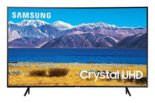 SAMSUNG 65-inch Class Curved UHD TU-8300 Series - 4K UHD HDR Smart TV With Alexa Built-in (UN65TU8300FXZA, 2020 Model) (Renewed)