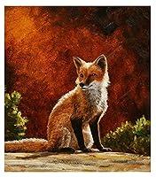 大人のための数字によるDIYペイントキツネ動物油絵キャンバスプリントウォールアート家の装飾