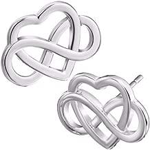 Soul Statement Celtic Jewelry: Infinity Heart Stud Earrings Gifts for Women