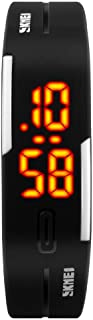 Sport Watch, TOOCAT Fashion LED Digital Watch Outdoor 30M Waterproof Rubber Bands Wristwatch for Men Women Teens Students- Black