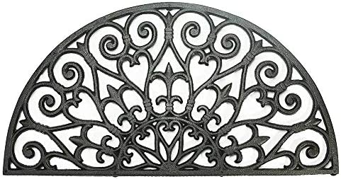 Sungmor Heavy Duty Cast Iron Doormat Vintage Beautiful Vine Design 71CM 28INCH Large Semicircle product image