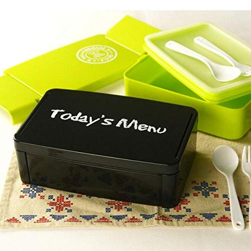 yylikehome Heutiges Menü Gesunde Plastikbrotdose 960ml Lunchpaket Bento-Boxen Mikrowarenofen Brotdose BPA Geben Sie Grün frei