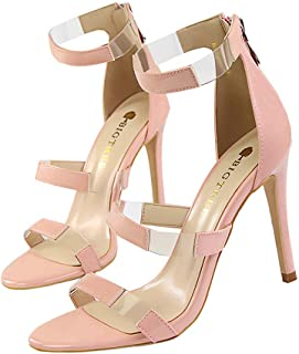 ecbfc661 Sandalias de tacón Alto para Mujer Sexy Punta Abierta Alto 10CM Señoras del Partido  Sandalias Zapatos