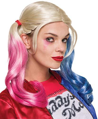 Rubies- Rubie's-Accessoire Officiel-Perruque Harley Quinn-Taille Unique, I-33608, Multicouleur