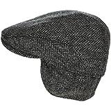Biddy Murphy Men's Ear Flap Cap 100% Wool Tweed...