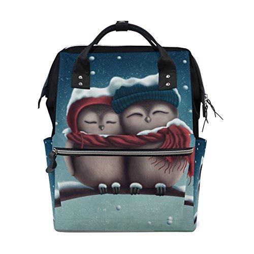 Tizorax Little Snow chouettes Diaper Sac à dos Grande capacité bébé Sac multifonctions Sacs à couches de voyage Maman Sac à dos pour bébé Care