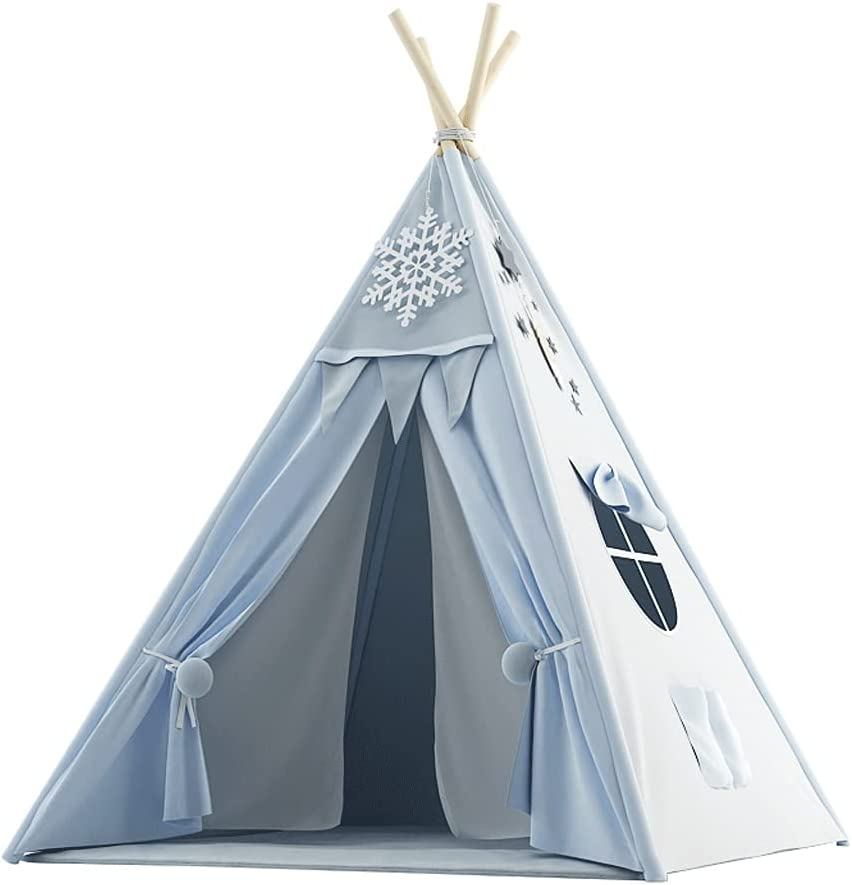 QIAOLI Kids Beauty products Tent for with OFFicial shop Teepee Fo Play Mat