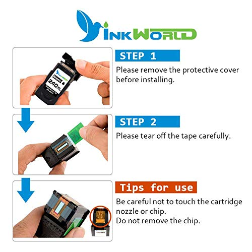 InkWorld Remanufactured 240XL 241XL Ink Cartridge Replacement for Canon PG-240 CL-241 XL to Use with Pixma TS5120 MG3620 MG3520 MX472 MG3220 MX452 MX532 MX512 MG2120 MX432 Printer (Black Color) 2-Pack Photo #7