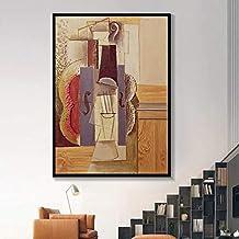 N / A Violín Música Resumen Cartel Instrumento Musical Lienzo para Bar Decoración del hogar Imprimir Imagen Lienzo Óleo Sala de Estar Sin Marco 40x60cm