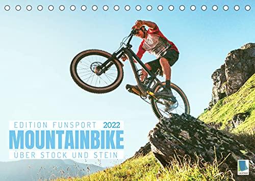 Mountainbike - Über Stock und Stein: Edition Funsport (Tischkalender 2022 DIN A5 quer)