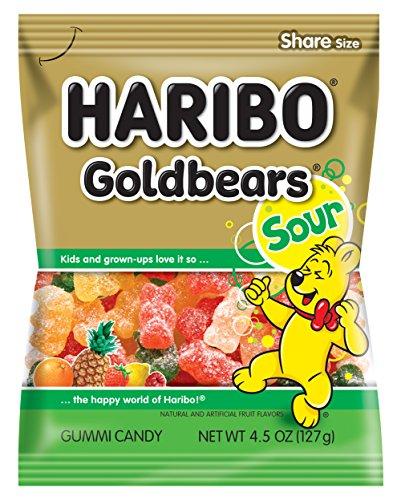 Haribo Gummi Candy Goldbears Gummi Candy  Sour 45 oz Bag Pack of 12