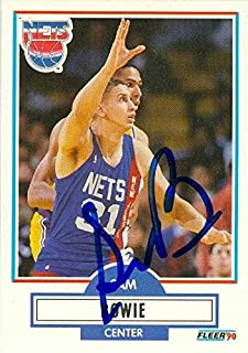 Sam Bowie autographed Basketball Card (New Jersey Nets) 1990 Fleer #118 - Autographed Basketball Cards