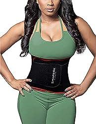 small SHAPERX Waist Trimmer Belt Waist Trainer Belt Hot Neoprene Sauna Sweat Umbilical Cord Weight Loss…