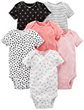 Simple Joys by Carter's Infant-and-Toddler-Bodysuits, Negro, Rosado, Blanco,...