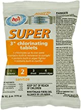 HTH 3-Inch Chlorinating Tablets   Slow Dissolve Super Tabs   6-Ounce   Individually Wrapped   Built-in Clarifier Providing Resistance to Sunlight and Algae (20-Pack)