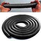 GEZICHTA tubo flessibile 2.5metre, 32mm Drable tubo flessibile per aspirapolvere, Nero, Taglia libera