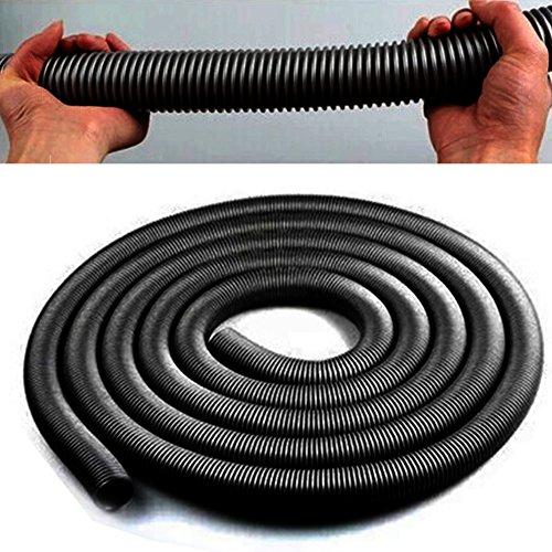 GEZICHTA 2.5 Metre Tuyau d'aspirateur, 32 mm Drable Tuyau Flexible pour aspirateur, Noir, Taille Unique