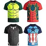 Marvel Avengers Boys 4 Pack T-Shirts Black...