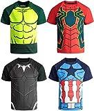 Marvel Avengers Boys 4 Pack T-Shirts Black Panther...