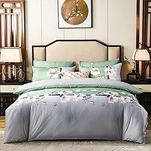 Juegos De SáBanas De 90 De Oferta,Edredones de seda de algodón, sábanas suaves y cómodas y cómodas sábanas para ropa de cama de sudorable transpirable, adecuados para el hotel familiar.-B_1,8 m de ca
