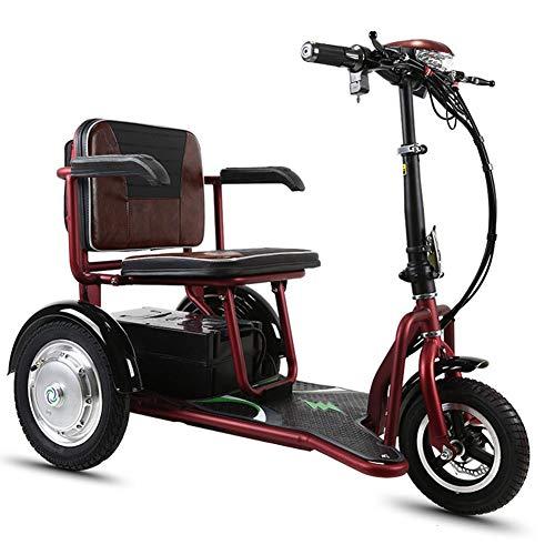 CYGGL Senioren Freizeit Elektrisches Dreirad Faltbares Elektroauto Behindertes Auto Lithium-Batterie 48 V Maximale Kilometerleistung 55 km Höchstgeschwindigkeit 20 km/h Rückfahrfunktion