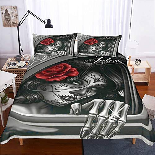 Nylin Bettbezug Skull Beauty Jueg...