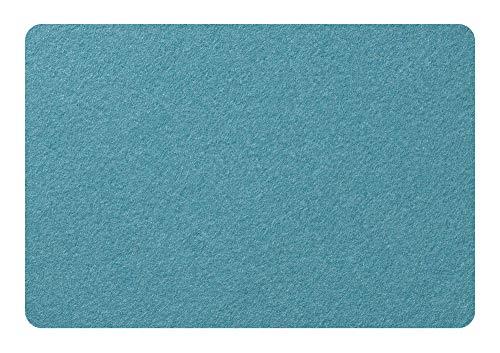 METZ Tischset Wollfilz 30,5 x 45 cm mit abgerundeten Ecken Farbe Lagune