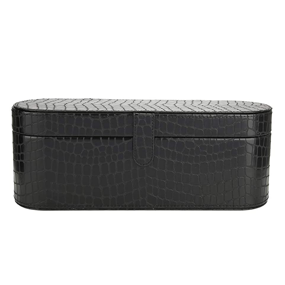 リングレット請求一致するヘアドライヤー収納ケース HD01 ダイソン 専用収納ボックス PUレザー 磁気フリップ ハードボックス 保護カバー傷防止カバー 防塵ポーチスリーブ 旅行オーガナイザー(黒)